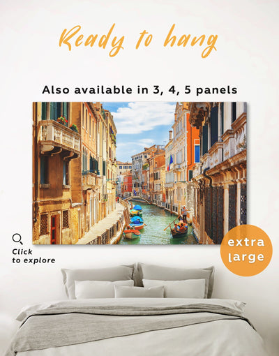 Venice Cityscape Wall Art Canvas Print - 1 panel bedroom City Skyline Wall Art Cityscape Italy wall art
