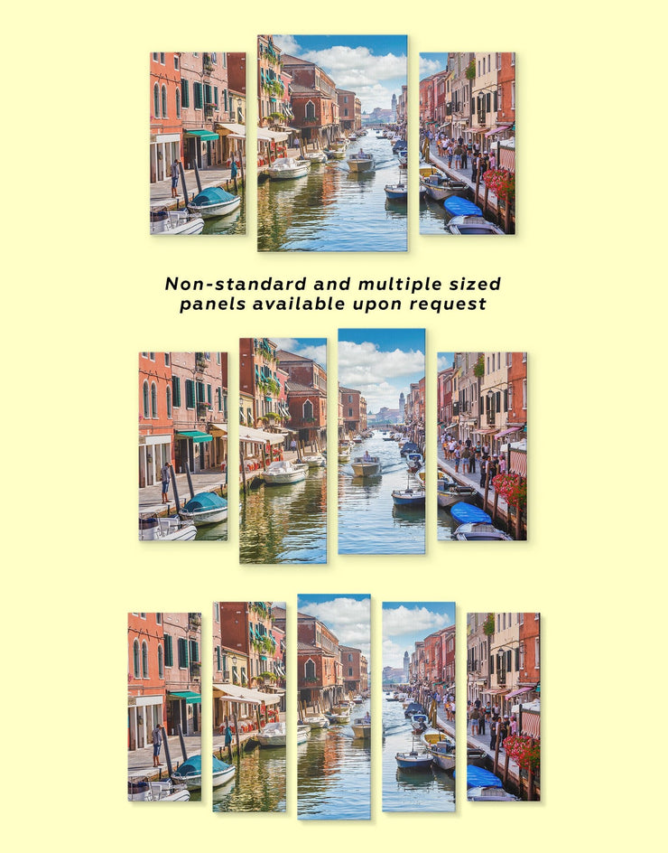 Venice Wall Art Canvas Print - 1 panel bedroom City Skyline Wall Art Cityscape Italy wall art