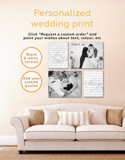 Wedding Gift Collage Wall Art Canvas Print