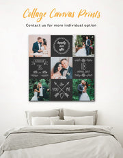 Wedding Photo Collage Wall Art Canvas Print