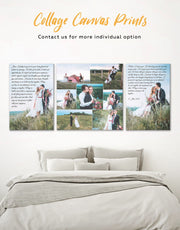 Wedding Vows Photo Collage Wall Art Canvas Print