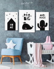 Whale Nursery Wall Decor Canvas