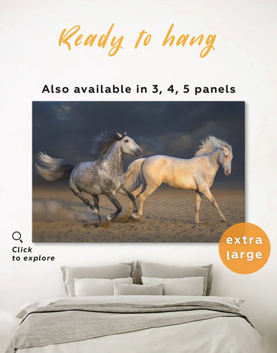 White Horse Wall Art Canvas Print - 1 panel Animal Animals bedroom Dining room