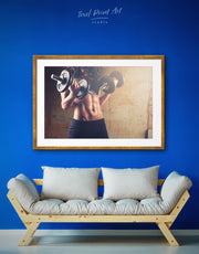 Workout Girl Wall Art Framed Print