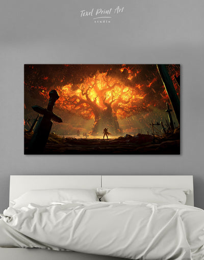 World of Warcraft Game Wall Art Canvas Print - Canvas Wall Art 1 panel bachelor pad bedroom Hallway Living Room