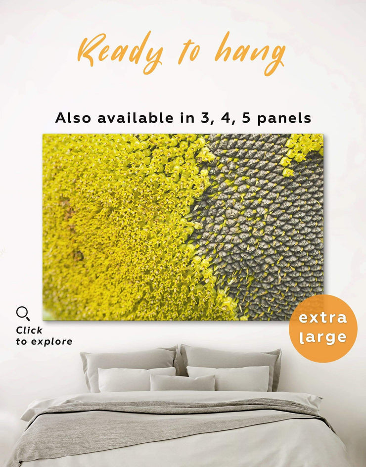 Yellow Sunflower Wall Art Canvas Print - 1 panel bedroom Floral Grey Hallway