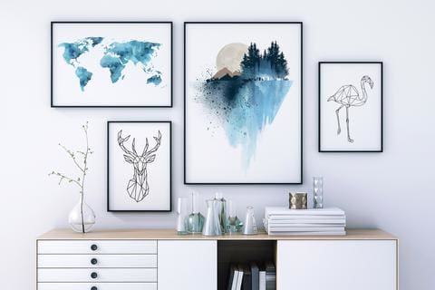 5 Tips on How to Hang Wall Art and Ways to Display Wall Decor