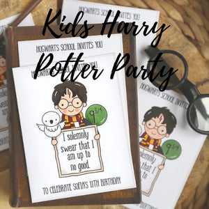 Kids Harry Potter Party- RESERVED ONLY