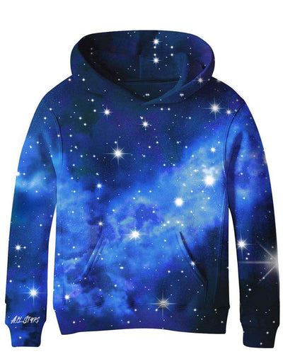 ALL STARS Boys Blue Galaxy Sweatshirt with Surprise Planet Patch