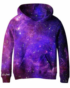 ALL STARS Girls Purple Galaxy Sweatshirt with Surprise Planet Patch