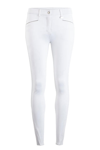 Montar Skyler Thin Crystal Pipe Knee Grip Breech White