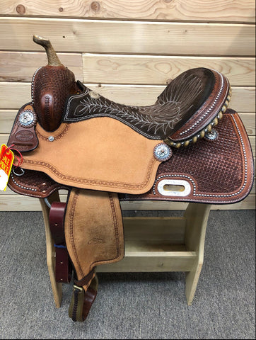 Billy Cook Barrel Saddle- 16""