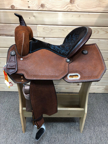 High Horse Leona Barrel Saddle By Circle Y- 15""