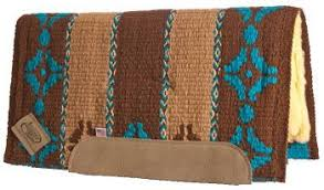 Impact Gel Woven Western Saddle Pad Hunters Bend