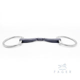 Fager® Maria Titanium Double Jointed Fixed Ring Snaffle