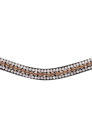 Montar Browband Curved Basil Peach/Clear