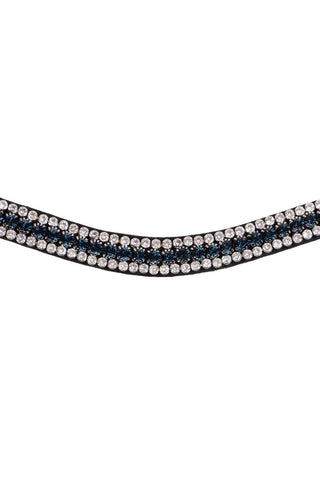 Montar Browband Curved Basil Dark Blue/Clear