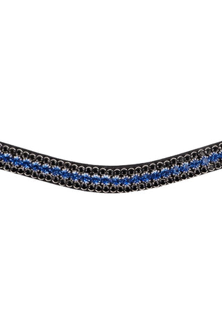 Montar Browband Curved Basil Blue/Black