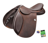 Bates Caprilli Close Contact with Forward Flap (CAIR) with Heritage Leather Saddle