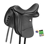 Bates WIDE Dressage + in Luxe Leather (CAIR) Saddle