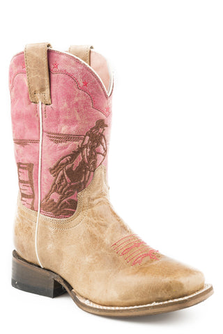 Roper Little Girls Rodeo Barrel Racer Western Boots
