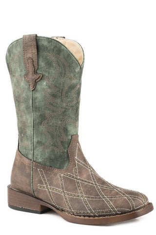 Roper Little Boys Cross Cut Western Boots