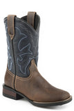 Roper Little Boys Burnished Leather Western Boots