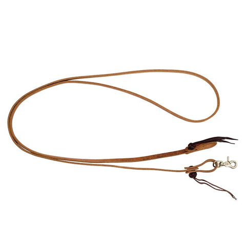 Wildfire Saddlery Harness Leather Cowboy Knot Roping Rein