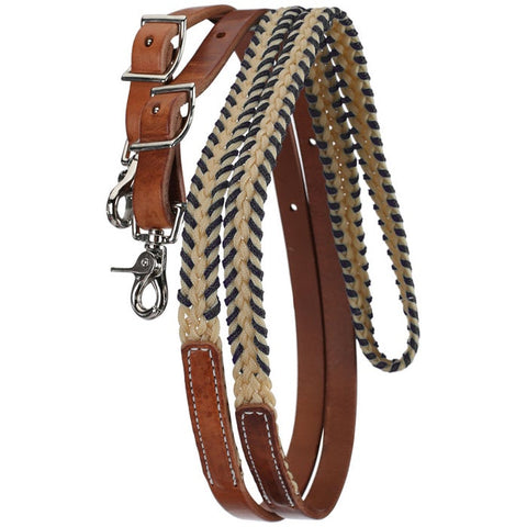 Tory Leather Wax Laced Roping Reins