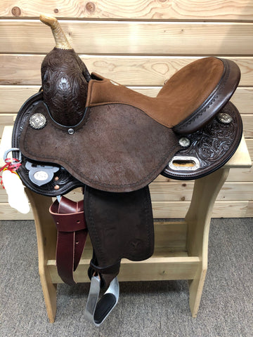 KK Swift Flex II Barrel Saddle by Circle Y- 14.5""