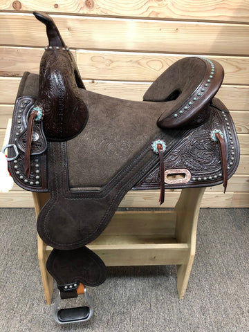 Remuda Barrel Treeless Saddle by Circle Y- 14.5""