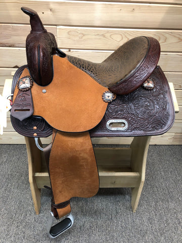 High Horse Runaway Barrel Saddle by Circle Y- 14""
