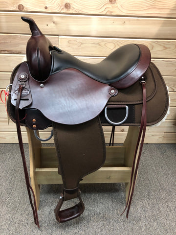 High Horse Lochart Cordura Trail Saddle by Circle Y-Wide Tree