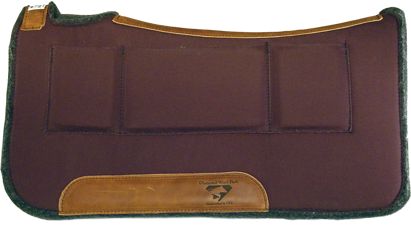 Diamond Wool Contoured Pressure Relief Saddle Pad 1/2""