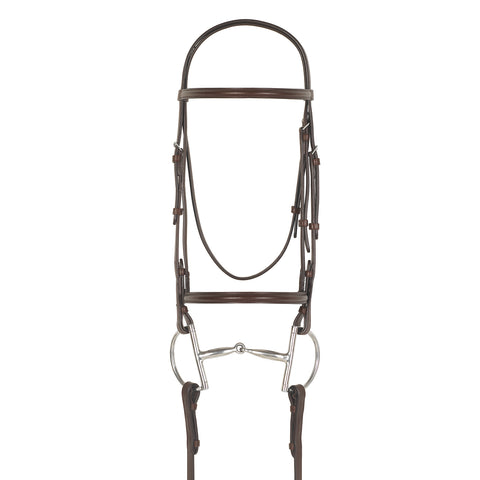 Camelot Plain Raised Padded Snaffle Bridle