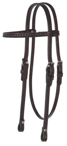 Circle Y Shell Tooled Browband Headstall
