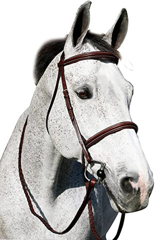Henri De Rivel Pro Plain Raised Padded Snaffle Bridle With Anti-Press Headpiece