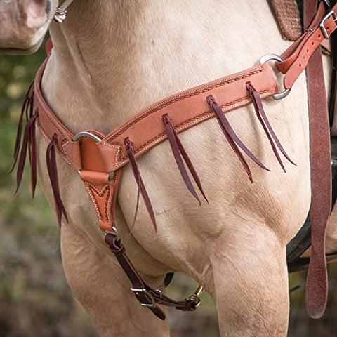 Wildfire Golden Roughout Breastcollar With Strings