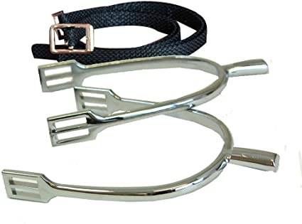Prince Of Wales Never Rust Mens English Spurs With Straps