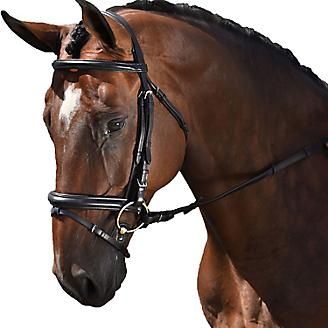 M. Toulouse Padded Dressage Bridle With Flash