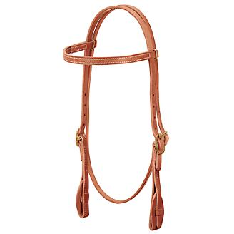Weaver Quick Change Browband Headstall With Gold Buckles