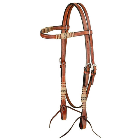 Weaver Russet Rawhide Browband Headstall