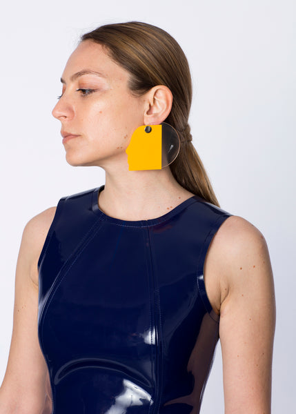 Yellow Face Earrings