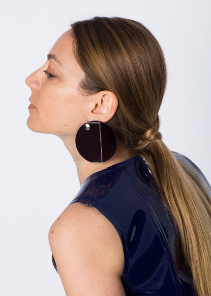Face Earrings | Tinted Black + Transparent