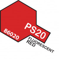 Tamiya PS-20 T86020 Fluorescent Red