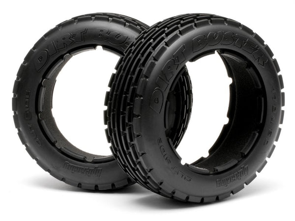 "HPI 4831 4.7/5.5"" baja 5B front dirt buster (m compound) tyres 2pcs"