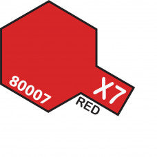 Tamiya X-07 T80007 Enamel Mini Red