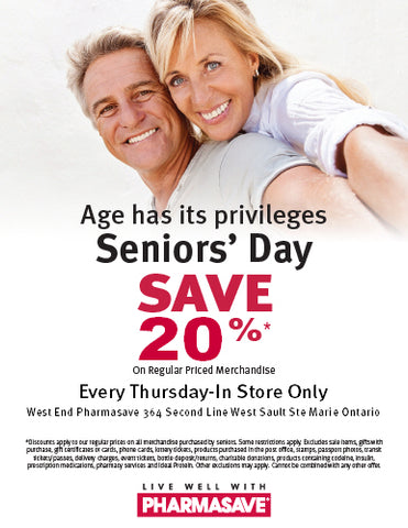 SENIORS OVER 55 SAVE 20% EVERY THURSDAY