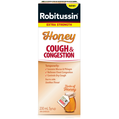 ROBITUSSIN HONEY COUGH & CONGESTION 230mL