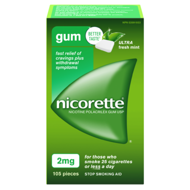 NICORETTE 2MG ULTRA FRESH MINT 105 PIECES